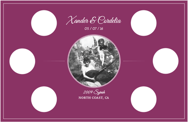 Picture of Wedding Syrah Tasting Mat