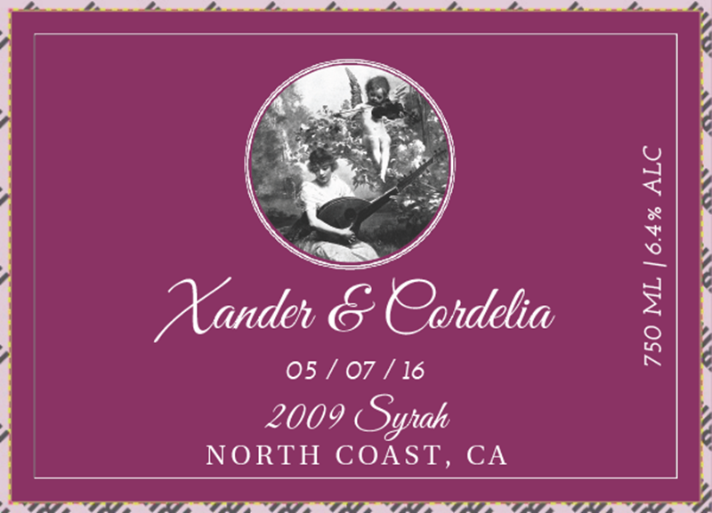 Picture of Wedding Syrah Basic Landscape