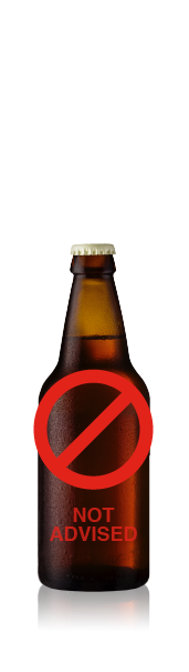 Short bottle with no label. CrushTag does not advise to apply an oval label set with necker to this type of bottle.