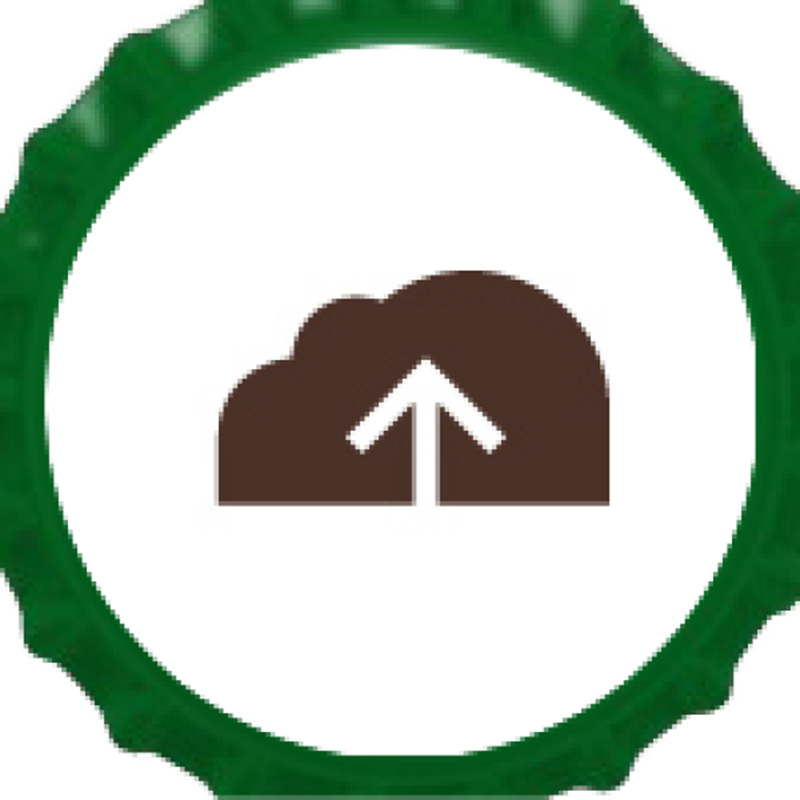Picture of Upload Your Own Green Bottle Cap