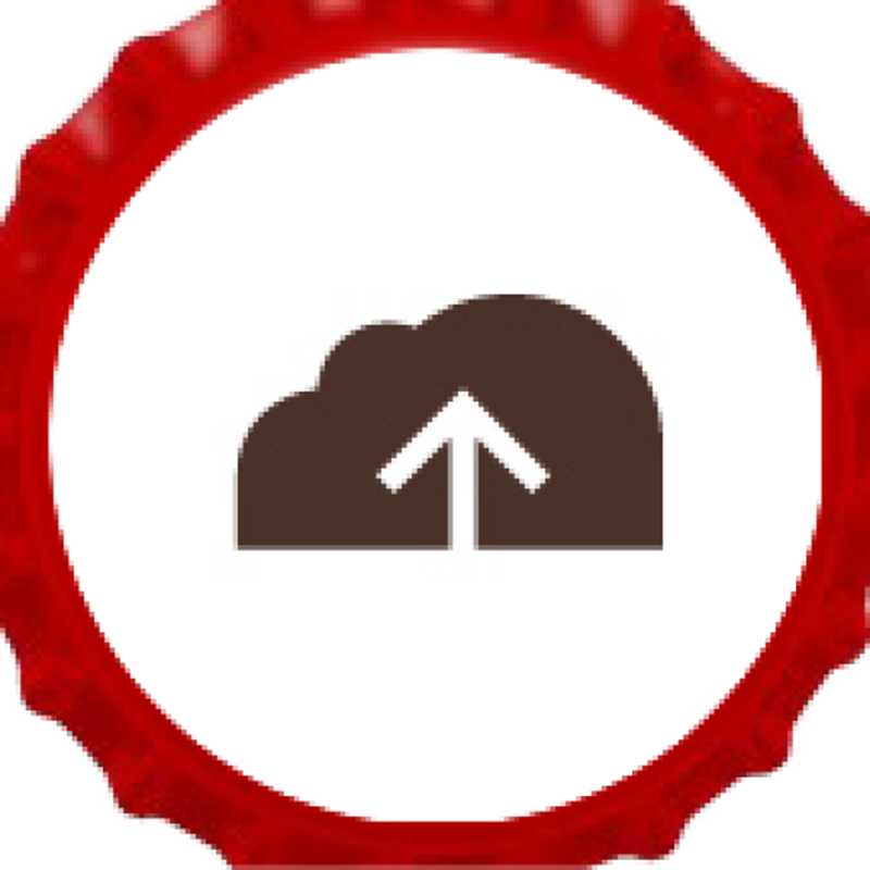 Picture of Upload Your Own Red Bottle Cap