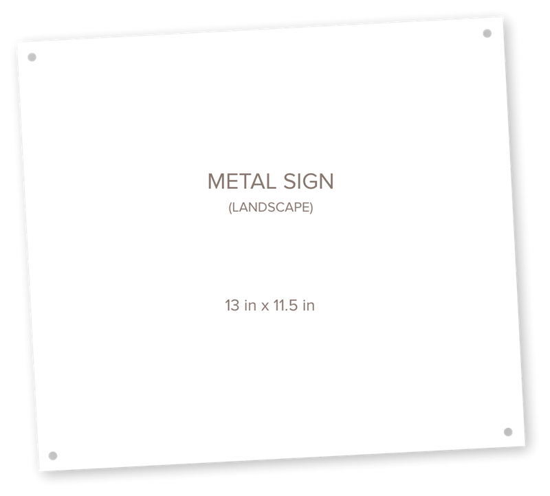 Picture for category Metal Sign Landscape