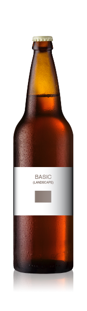 Bomber bottle with a blank basic landscape front label from CrushTag