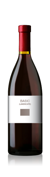 Burgundy bottle with a blank basic landscape front label from CrushTag