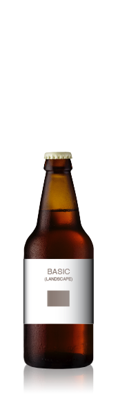 Short bottle with a blank basic landscape  front label from CrushTag