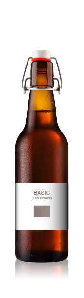 Swing top bottle with a blank basic landscape front label from CrushTag