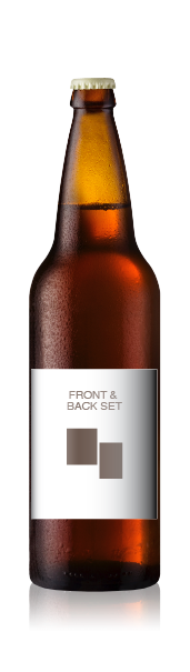 Bomber bottle with a blank front label, representing the front and back wine label set from CrushTag