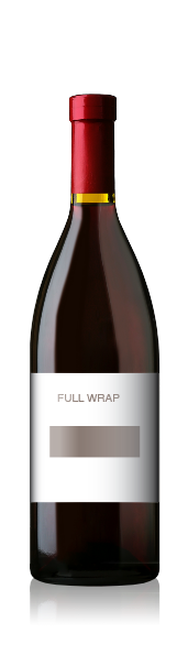 Burgundy bottle with a blank fullwrap label from CrushTag