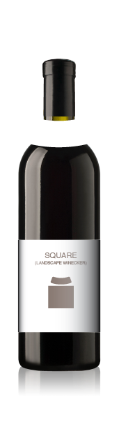 Bordeaux bottle with a blank square label set (landscape) from CrushTag