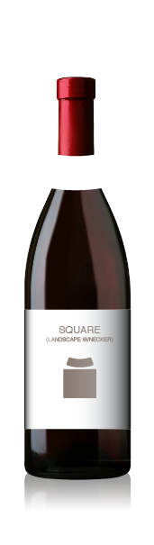 Burgundy bottle with a blank square label set (landscape) from CrushTag