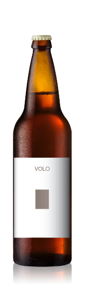 Bomber bottle with a blank volo portrait label from CrushTag