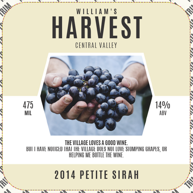 Picture of Harvest Hamlet Coaster, Single Sided