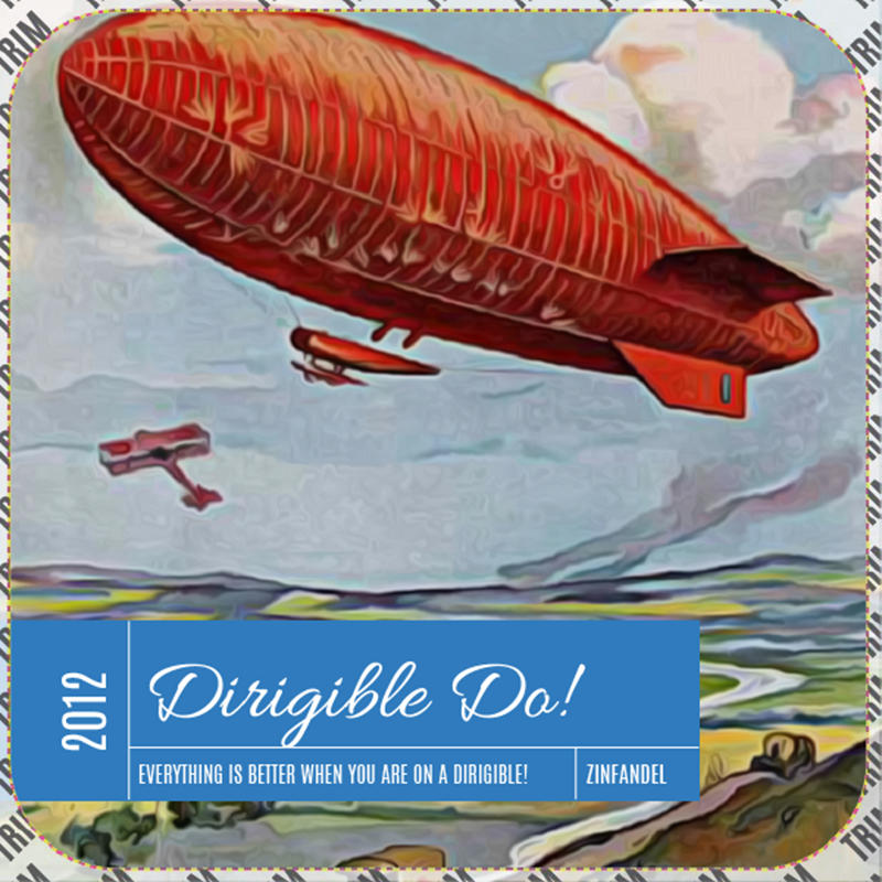 Picture of Dirigible Do! Coaster, Double Sided
