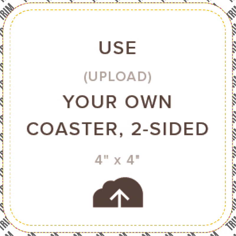 Picture of Upload Your Own Coaster, Double Sided