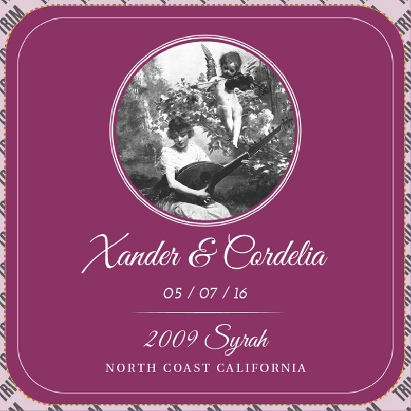 Picture of Wedding Syrah Coaster, Single Sided
