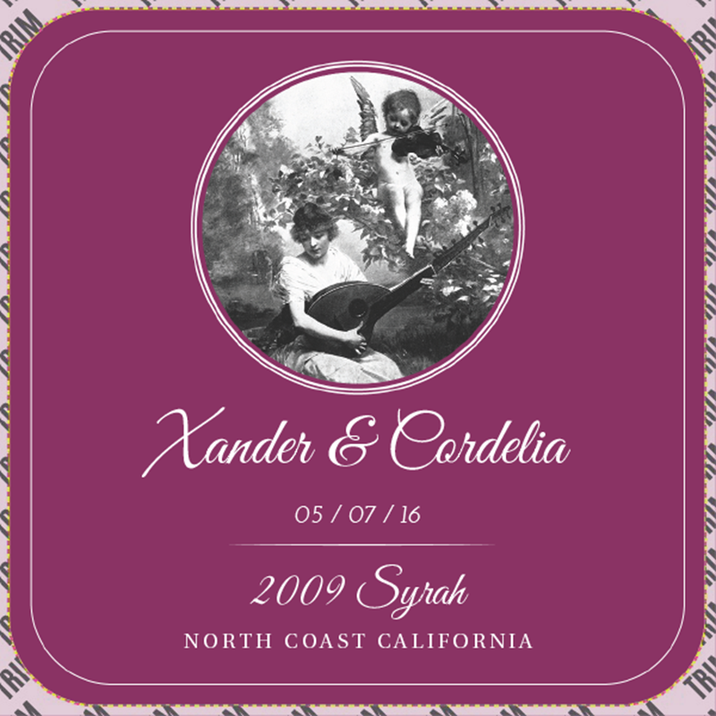 Picture of Wedding Syrah Coaster, Double-Sided