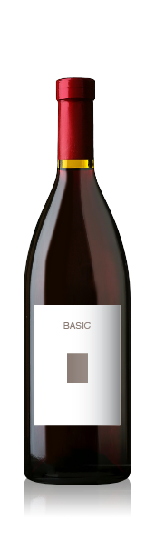 Burgundy bottle with a blank basic front label from CrushTag