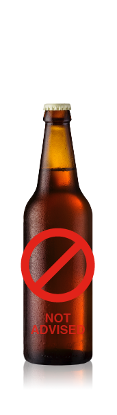 Tall bottle with no label. CrushTag does not advise to apply an oval label set with necker to this type of bottle.